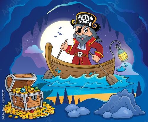 Keuken foto achterwand Voor kinderen Pirate in boat topic image 3