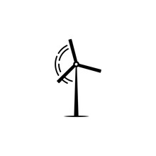 Windmill Icon On White Background. Can Be Used For Web, Logo, Mobile App, UI, UX