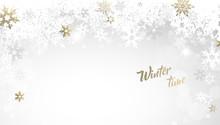 Christmas Golden Vector Backgr...