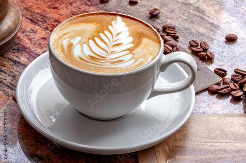 Crédence de cuisine en verre imprimé Cafe Kaffee Latte Art