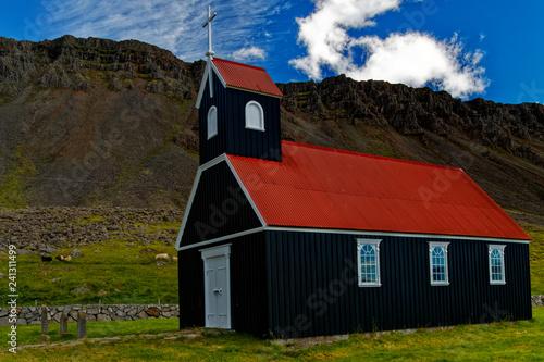 Fotografie, Obraz  Budir at Snaefellsnes in Iceland