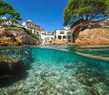 Spain Village Mediterranean Coast Fish Underwater
