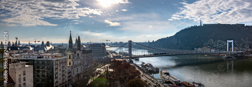 Spoed Foto op Canvas Historisch geb. Panoramic view of Budapest