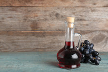 Glass Jug With Wine Vinegar An...