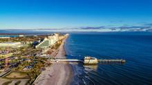 Drone Aerial Of Daytona Beach, Florida, USA.