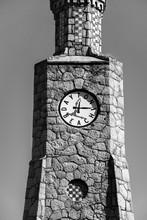 Black And White Clock Tower In Daytona Beach Florida