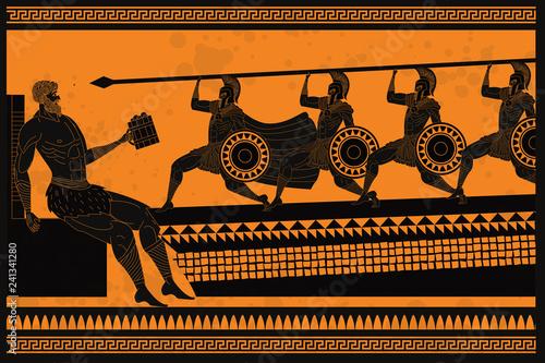 Odyssey Polyphemus titan attacked by Odysseus greek myth Canvas Print