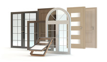 Windows And Doors, 3d Illustration
