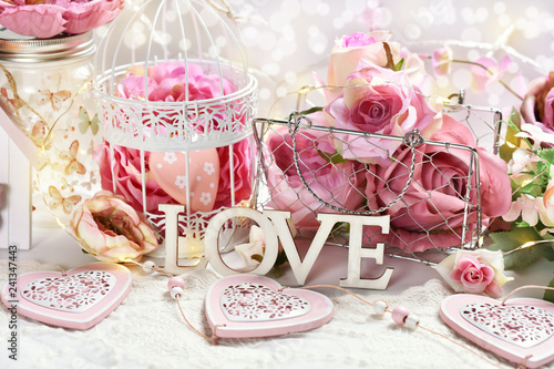 romantic decoration for Valentine or wedding day