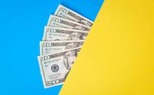 Cash Money On Colorful Backgro...