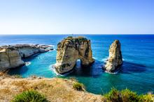 Beirut Raouche Pigeons Rock 03
