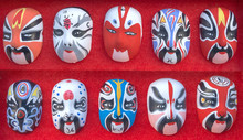 Group Of Chinese Traditional Culture Opera Masks