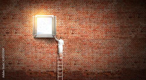 Window to success. Mixed media