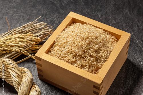 玄米ご飯 Brown rice Japanese food