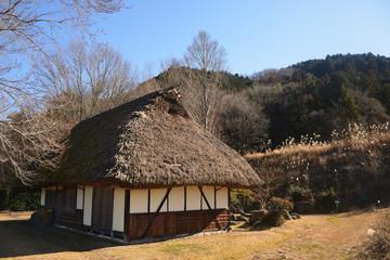 Fototapeta na wymiar 茅葺の家