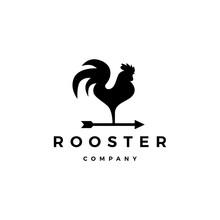 Rooster Logo Vector Arrow Icon Illustration