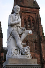 Robert Burns Statue, Dumfries, Scotland
