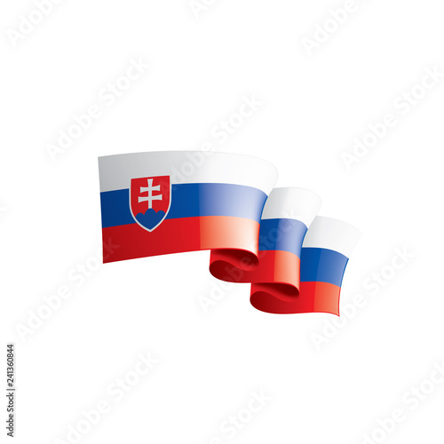 Slovakia flag, vector illustration on a white background Fototapeta