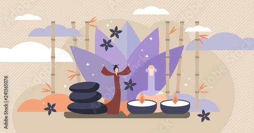 Fotografie, Obraz  Asian healing vector illustration