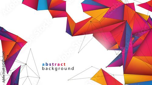 Valokuvatapetti 3d sieć abstrakcyjne tło wektor