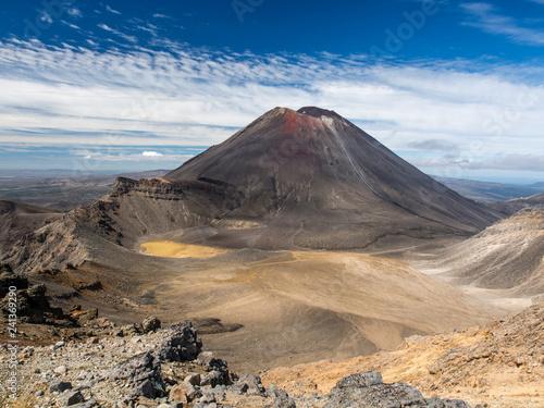 Photo  Mount Ngauruhoe in Tongariro NP, New Zealand