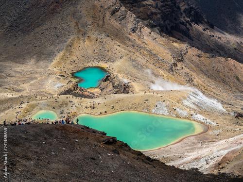 Photo  Emerald Lakes in Tongariro NP, New Zealand