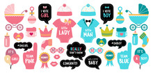 Gender Reveal Baby Shower Photo Booth Props