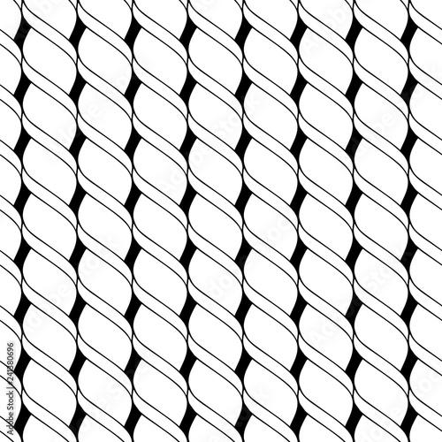 Fotografie, Obraz  Seamless pattern of linear twisted spiral