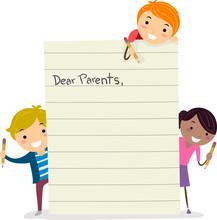 Stickman Kids Making Parents L...