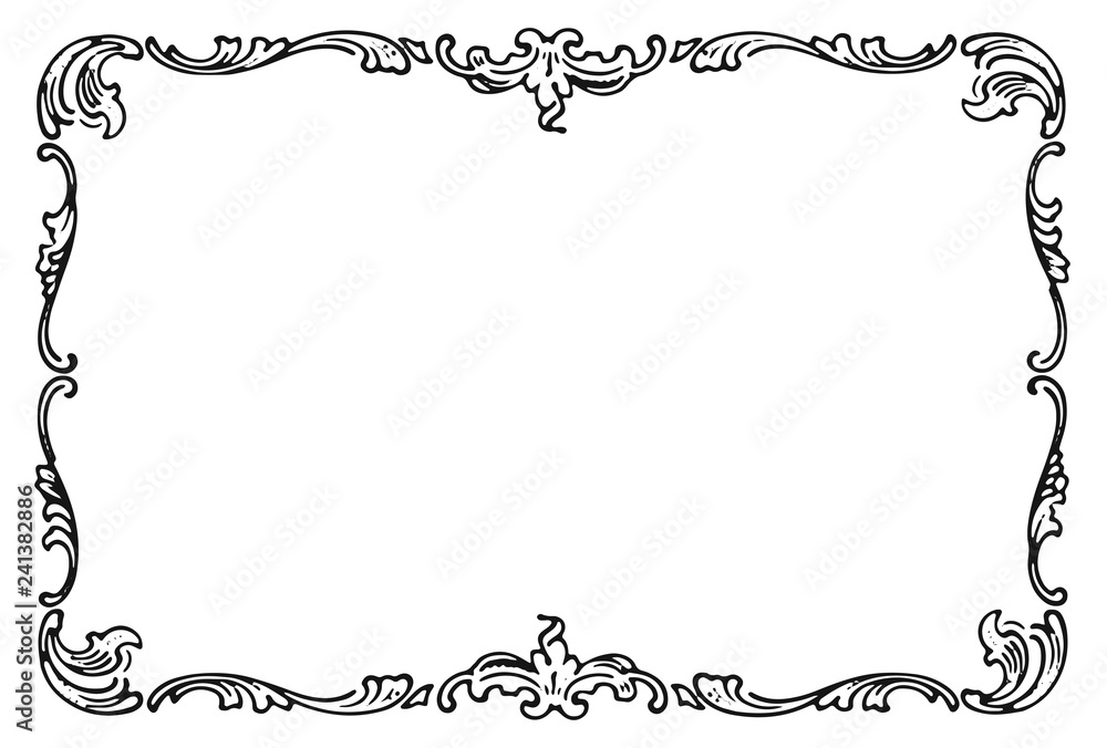 Fototapeta Vintage frame decoration design element #isolated #vector