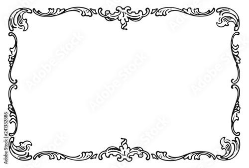 Vintage frame decoration design element #isolated #vector Canvas Print
