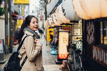 Female Tourist Finding Place T...