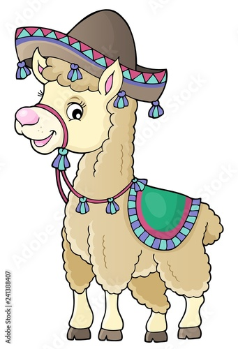 Llama in sombrero theme 1