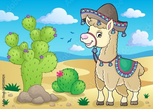 Llama in sombrero theme 2