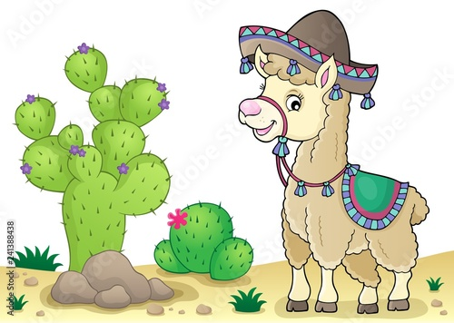 Llama in sombrero theme 3
