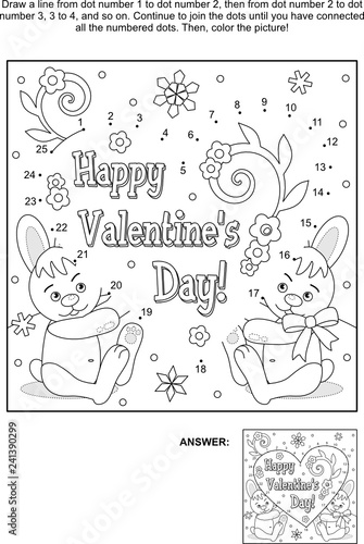 Get This Printable Valentine Dot to Dot Coloring Pages M8GNK ! | 500x336