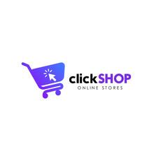 Click Shop Logo Icon Design. Online Shop Logo Design Template