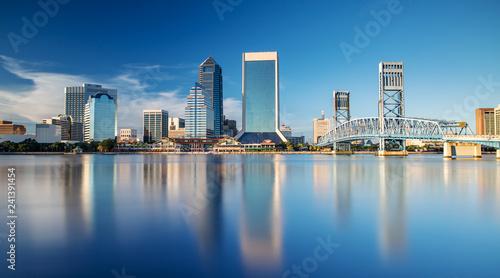Skyline of Jacksonville, FL and Main Street Bridge