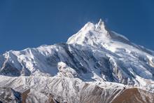 Manaslu Mountain Peak, Eighth Highest Mountain Peak In The World, Himalayas Mountain Range, Nepal