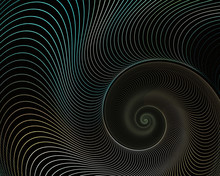 Abstract Fractal Spiral. Shell Background