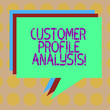 canvas print picture - Word writing text Customer Profile Analysis. Business concept for customer profile or target market analysis Stack of Speech Bubble Different Color Blank Colorful Piled Text Balloon