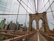 Brooklyn bridge at day time, Manhattan view
