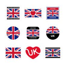 United Kingdom, Great Britain, UK - Vector Flags