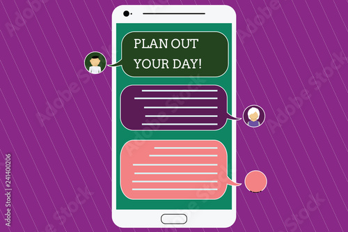 Text sign showing Plan Out Your Day Canvas Print