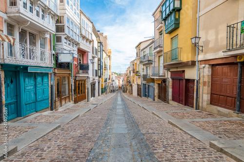 beautiful balboraz street of zamora, Spain