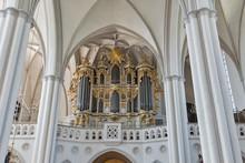Organ Of St. Mary Church In Berlin, Germany.