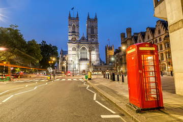 View of the Westminster Abbey in London