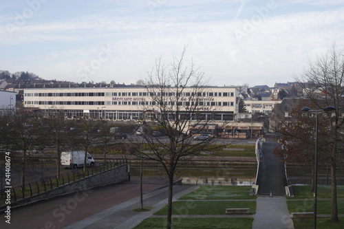 Fotografie, Obraz  Panoramique de la ville de Saint-Lô et la Vire