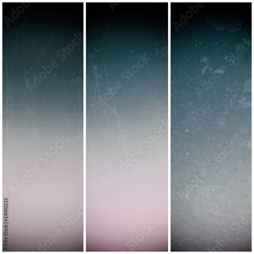 Set of vertical banners. Abstract backgrouds triptych. Wall mural