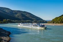 Austria, Wachau, Cruise Ship On The Danube